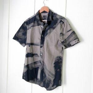 AX Armani Exchange Casual Button Down Art Shirt M
